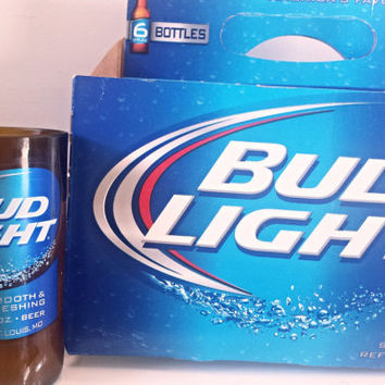 6-Pack Special Blue Bud Light Classic Beer Bottle Soy Candles