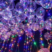 2018 New Year Christmas Decoration Luminous Led Balloon Transparent Round Bubble Decoration Party Wedding Festival Decor
