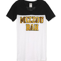 University of Missouri Bling Athletic Yoke V-neck Tee - PINK - Victoria's Secret