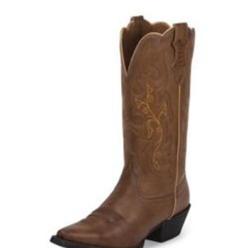 Justin Ladies Farm/Ranch Narrow Brown Boots