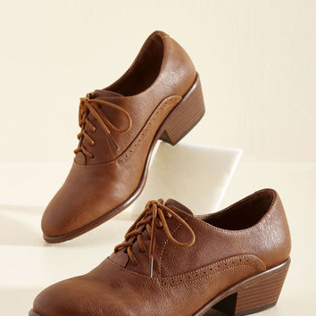 Engineer to the Mark Heel in Cinnamon | Mod Retro Vintage Heels | ModCloth.com