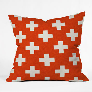 Holli Zollinger Vermillion Plus Outdoor Throw Pillow