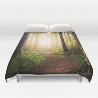 Forest Path Duvet Cover by Tjc555 | Society6