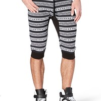 Black & White Aztec Jogger Short