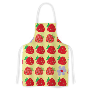 "Jane Smith ""Seasons Summer"" Yellow Red Artistic Apron"