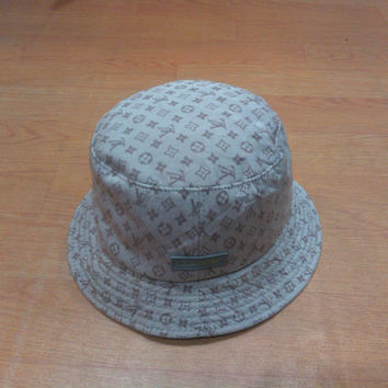 Vintage Louis Vuitton Hat Cap Vintage Louis Vuitton Bucket Hat Made in Italy Vintage LV