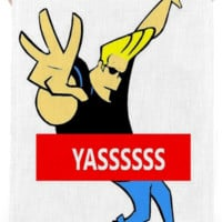 Johnny Bravo Yas Towel created by trilogy-anonymous | Print All Over Me