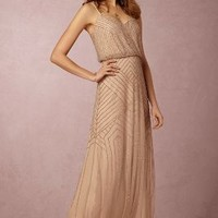 Sophia  Wedding Guest  Wedding Guest Dress by Anthropologie x BHLDN in Rose Gold Size: