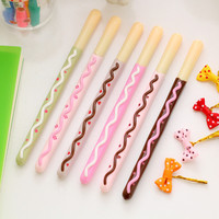Cute Chocolate Cake Gel Pen -4 Pcs/lot