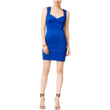 Guess Womens Bodycon Grommet Cocktail Dress
