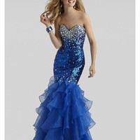 Clarisse 2014 Red and Blue Sequins Prom Dress 2304 | Promgirl.net