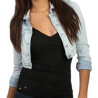 Destroyed Cropped Denim Jacket | Shop Jackets at Wet Seal