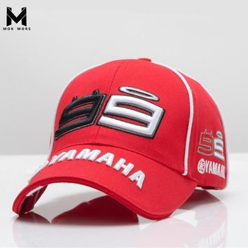 Trendy Winter Jacket 2018 High Quality MOTO GP 99 Motorcycle 3D Embroidered F1 Racing Cap Men Women Snapback Caps Rossi 99 Baseball Cap YAMAHA Hats AT_92_12