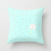 *** NORMAL IS BORING  ***MINT  Cute Doodle Bunny Throw Pillow by M✿nika  Strigel