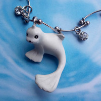 OOAK Cute Sparkly Dewgong Pokemon Necklace