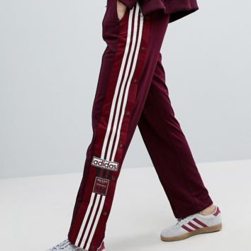 adidas Originals Adibreak Popper Track Pants In Maroon
