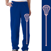 Lacrosse Stick Fleece Sweatpants | Lacrosse Fleece Sweatpants | Lacrosse Casual Pants