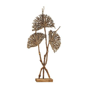 Pensacola Wooden Botanical Fan Sculpture