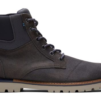 TOMS - Men's Ashland Waterproof Forged Iron Waxy Suede Boots