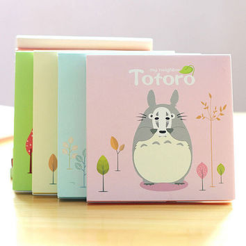 P37 Cute Kawaii My Neighbor Totoro Sticky Notes Memo Pad Planner Stickers Post it School Stationery Office Supplies Message