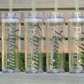 wedding tumblers, personalized tumbler, acrylic cups, skinny tumbler, bachelorette party cups, monogrammed cup, stocking stuffer, holiday