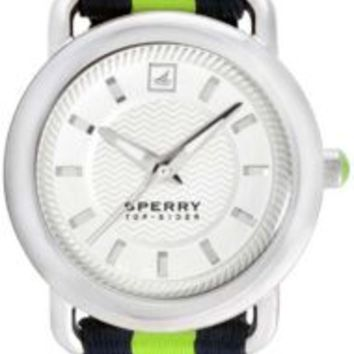 Sperry Top-Sider Hayden Watch StainlessSteel/GreenNylon, Size One Size  Women's