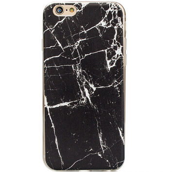 Natural Black Marble Grain iPhone 5s 6 6s Plus Case Gift + Free Gift Box