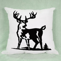 Browning Deer Hunter Logo High Quality Pillow Case Cushion 16 18 20 2 Side Cover