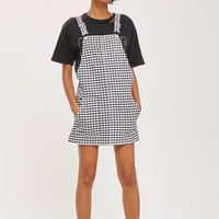 MOTO Gingham Pinafore Dress - Dresses - Clothing