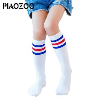 Cheap kid striped sport socks basketball football soccer girls boys socks over knee thigh high winter cotton toddler bootsockP20