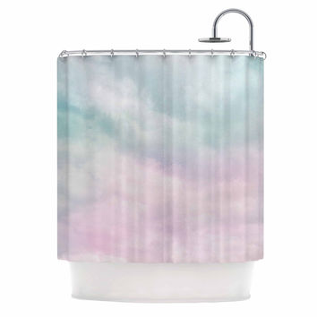 "Michelle Drew ""VIntage Clouds "" Pastel Nature Shower Curtain"