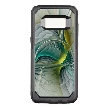 Fractal Evolution, Golden Turquoise Abstract Art OtterBox Commuter Samsung Galaxy S8 Case