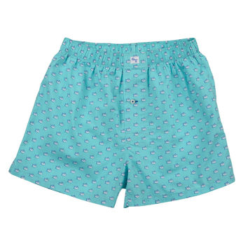Skipjack Boxers in Crystal Blue by Southern Tide