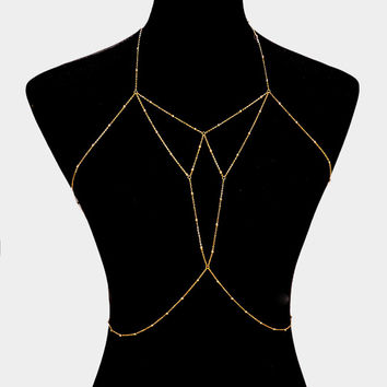 "20"" bead bra body chain bikini swimsuit bathing suit jewelry"