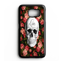 Floral Skull Samsung Galaxy S4 Galaxy S5 Galaxy S6 Edge Case | Note 3 Note 4 Note 5 Case