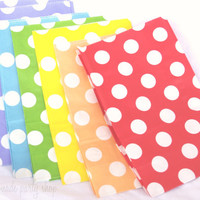 12 STanDing PolKA DoT Bags-CHRiSTMaS MiX--packaging-gifts-party favors-