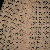 handmade Off white crocheted shawl by CanadianCraftCritter on Etsy
