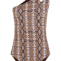 Melissa Odabash - Jamaica one-shoulder snake-print swimsuit