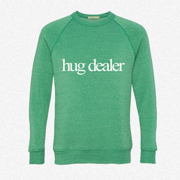 Hug Dealer fleece crewneck sweatshirt