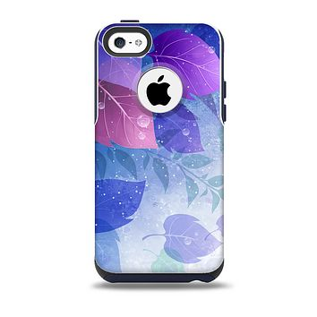 The Magical Abstract Pink & Blue Floral Skin for the iPhone 5c OtterBox Commuter Case