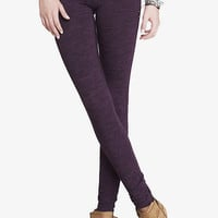 Marled Stretch Knit Ankle Legging from EXPRESS