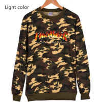 Thrasher Flame jacket with long sleeves loose set of Pullovers sweater Flame
