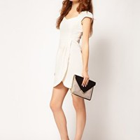 A Wear Sweetheart Neck Dress at asos.com