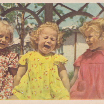 "Photo Postcard by A. Stanovoy ""Crybaby"" -- 1958. Condition 8/10"