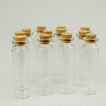 Mini Corked Jars Tube Bottle Favors, 12-pack, 3-inch