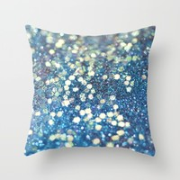 Her Mermaid Sea Throw Pillow by Lisa Argyropoulos