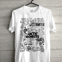 arctic monkeys lyrics collage Screen print Funny shirt for t shirt mens and t shirt girl size s, m, l, xl, xxl