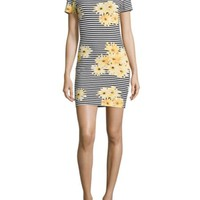 French Connection - Sunflower Striped Dress