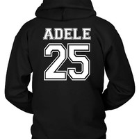 Adele 25 Old School Title Hoodie Two Sided