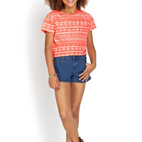 FOREVER 21 GIRLS Totally Tribal Print Tee (Kids)